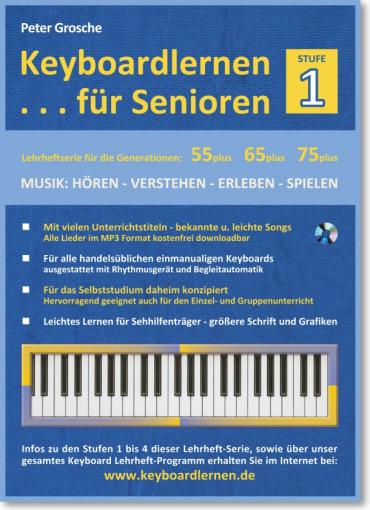 Keyboardlernen für Senioren - Stufe 1